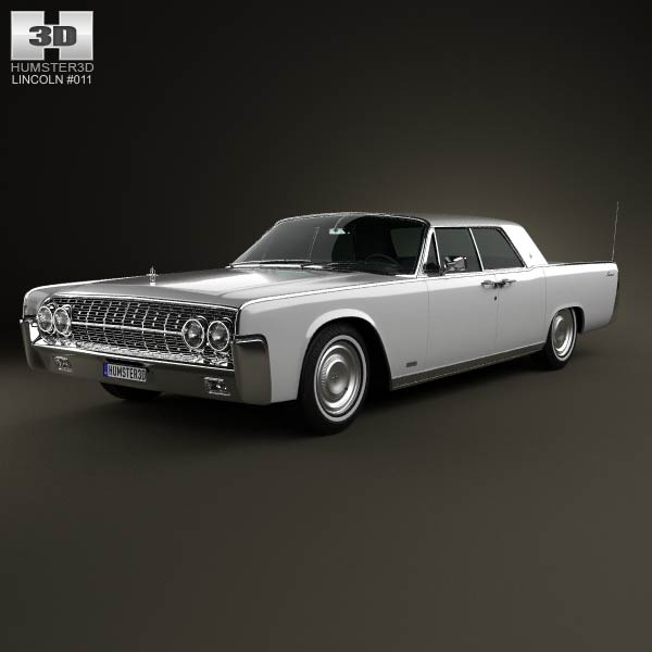 Lincoln Continental sedan 1962 3d car model