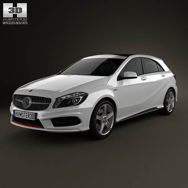 Mercedes-Benz A-class with HQ interior 2013 3d car model