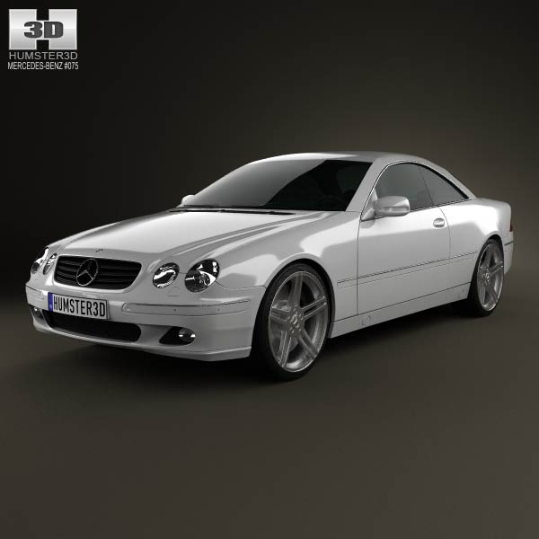 Mercedes-Benz CL-Class (W215) 2006 3d car model