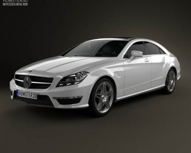 3D model of Mercedes-Benz CLS-Class 63 AMG 2012