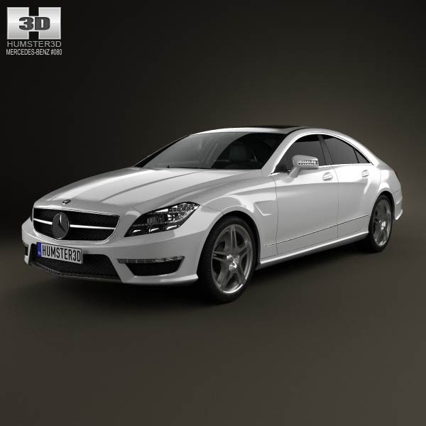 Mercedes-Benz CLS-Class 63 AMG 2012 3d car model