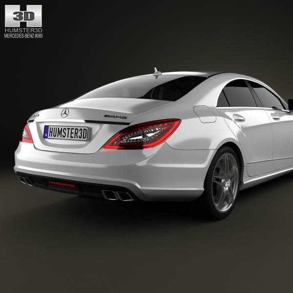 Mercedes benz cls class 63 amg 2012 3d model humster3d for Mercedes benz 2012 models