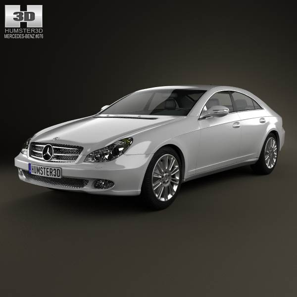 mercedes benz cls class c219 2006 3d model humster3d