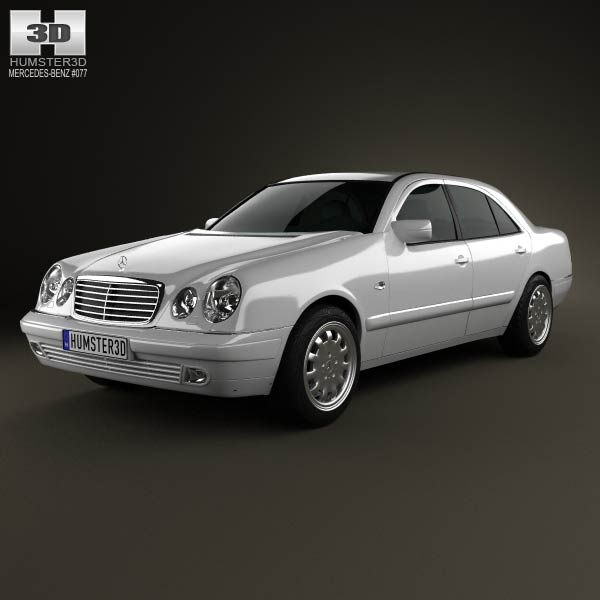 Mercedes benz e class sedan w210 1996 3d model humster3d for Mercedes benz e class models
