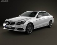 3D model of Mercedes-Benz E-class (W212) sedan 2014