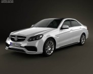 3D model of Mercedes-Benz E-Class 63 AMG 2014