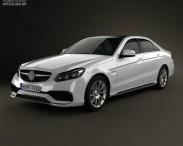 3D model of Mercedes-Benz E-Class 63 AMG 2014