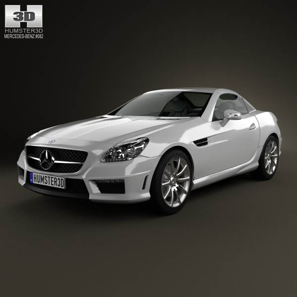 3D model of Mercedes-Benz SLK-class 55 AMG 2012
