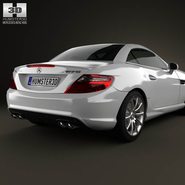 Mercedes benz slk class 55 amg 2012 3d model humster3d for Mercedes benz 2012 models