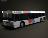 3D model of New Flyer D40LF Bus 2010