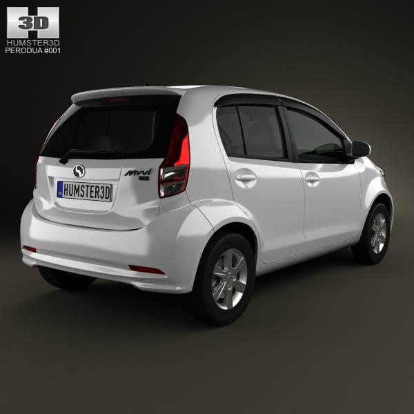 Perodua MyVi 2012 3d model