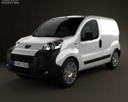 3D model of Peugeot Bipper Panel Van 2011