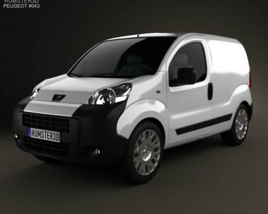 3D model of Peugeot Bipper Panel Van 2011