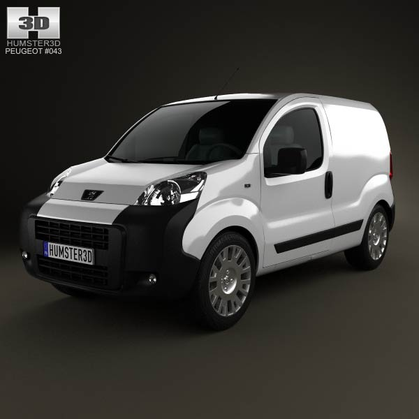 Peugeot Bipper Panel Van 2011 3d car model