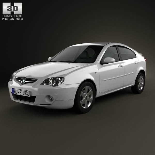 Proton Gen-2 hatchback 2012 3d car model