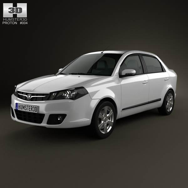 Proton Saga FLX 2012 3d car model