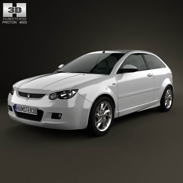 Proton Satria 2012 3d car model