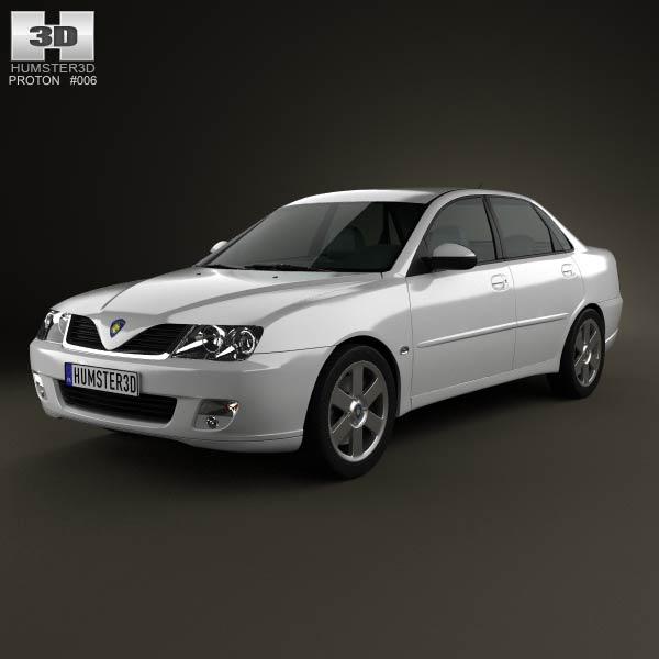 Proton Waja (Impian) 2010 3d car model