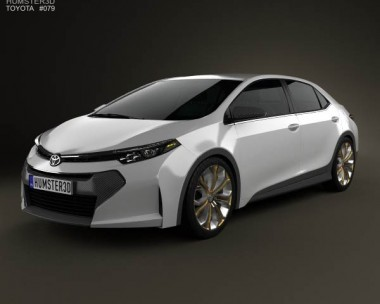 3D model of Toyota Corolla Furia 2013