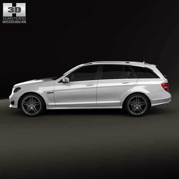 Mercedes benz c class 63 amg estate 2012 3d model humster3d for Mercedes benz different models