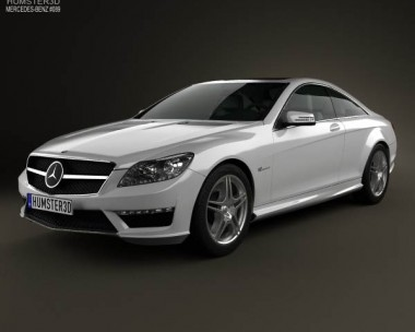 3D model of Mercedes-Benz CL-Class 65 AMG 2012