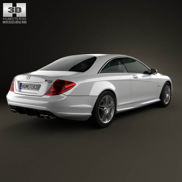 Mercedes benz cl class 65 amg 2012 3d model humster3d for Mercedes benz 2012 models