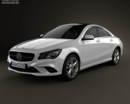 3D model of Mercedes-Benz CLA-Class (C117) 2013