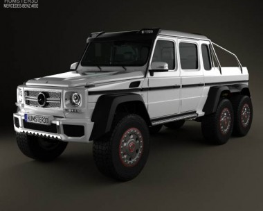 3D model of Mercedes-Benz G-Class 6×6 AMG 2013
