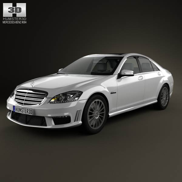Mercedes-Benz S-class 65 AMG 2012 3d car model