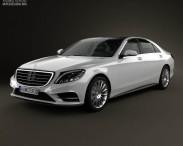3D model of Mercedes-Benz S-Class (W222) 2014