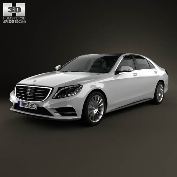 Mercedes-Benz S-Class (W222) 2014 3d car model