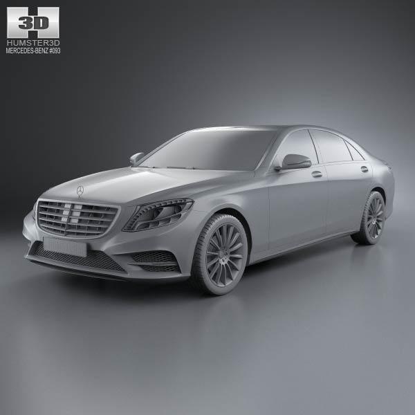 Mercedes benz s class w222 2014 3d model humster3d for Mercedes benz 2014 models