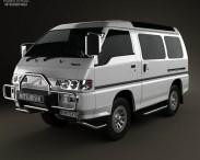 3D model of Mitsubishi Delica Star Wagon 4WD 1986
