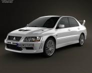 3D model of Mitsubishi Lancer Evolution 2001