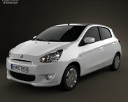 3D model of Mitsubishi Mirage 2013