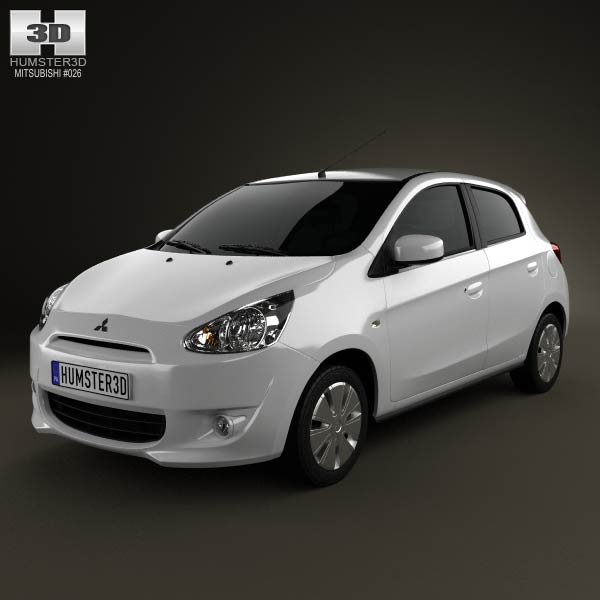 Mitsubishi Mirage 2013 3d car model