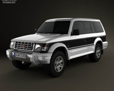 3D model of Mitsubishi Pajero (Montero) Wagon 1991