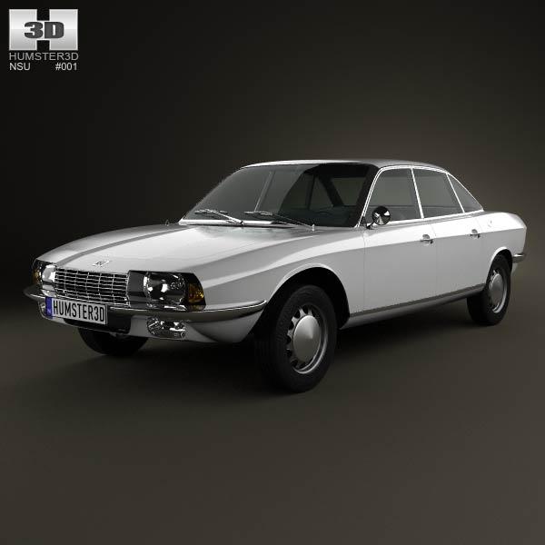 NSU Ro 80 1967 3d car model