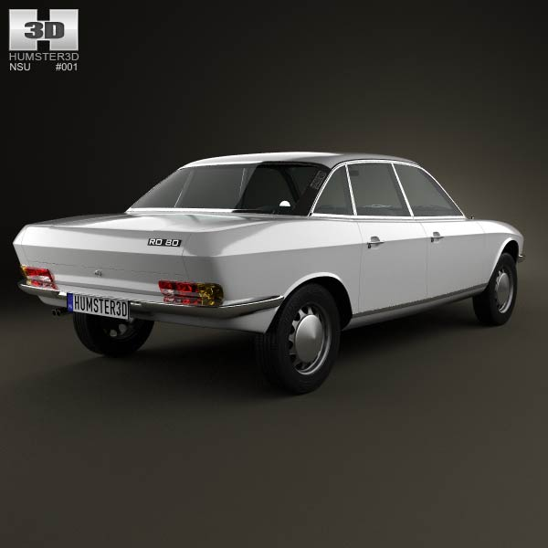 NSU Ro 80 1967 3d model
