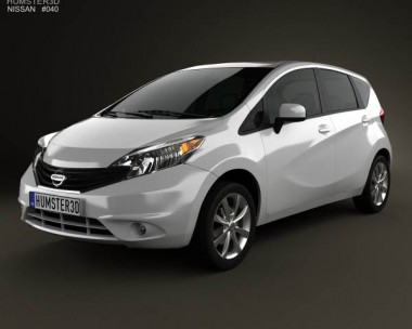3D model of Nissan Versa Note (Livina) 2013