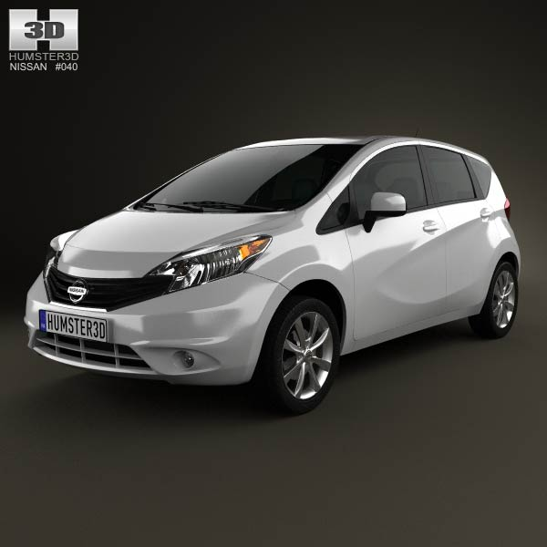 Nissan Versa Note (Livina) 2013 3d car model