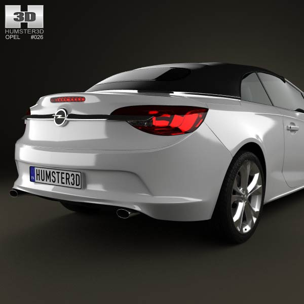 opel cascada cabrio 2013 3d model humster3d. Black Bedroom Furniture Sets. Home Design Ideas