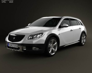 3D model of Opel Insignia Cross Four 2013