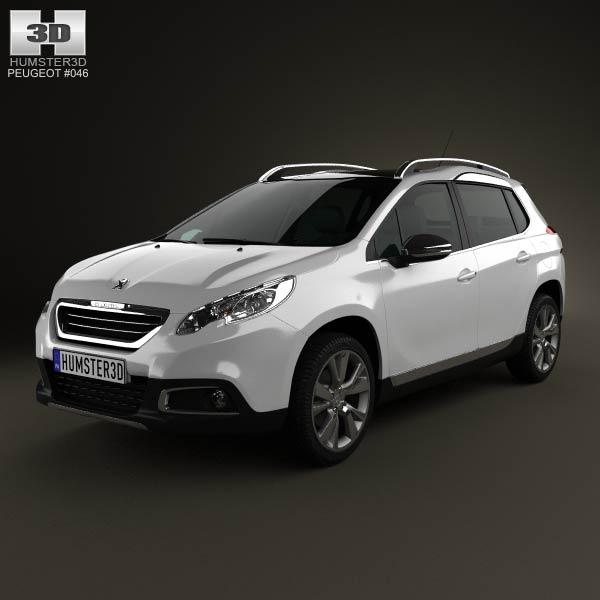 Peugeot 2008 2013 3d car model