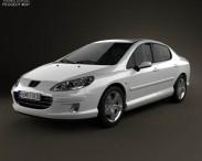 3D model of Peugeot 407 sedan 2004