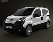 3D model of Peugeot Bipper Tepee 2011