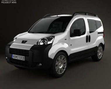 3D model of Peugeot Bipper Tepee 2011