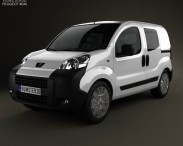 3D model of Peugeot Bipper Tepee Combi 2011