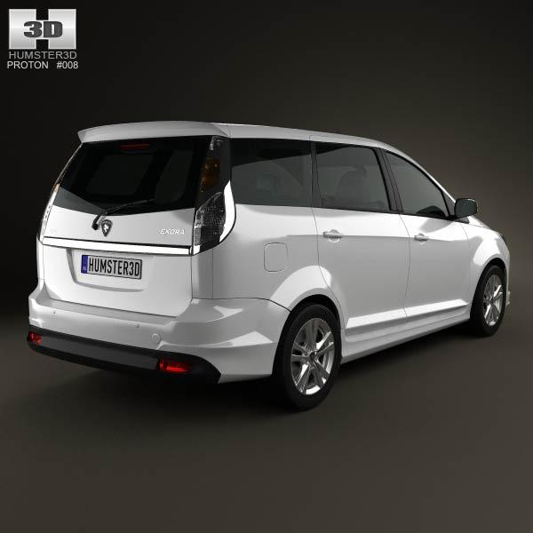 Proton Exora 2012 3d model