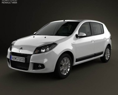 3D model of Renault Sandero (BR) 2011